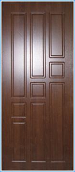 Образей накладки МДФ на металлическую дверь 1