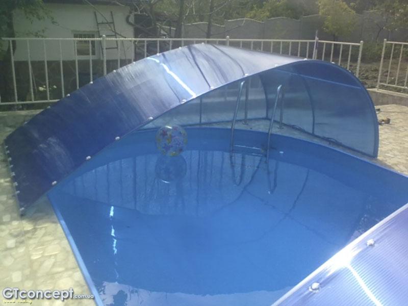 Навес над бассейном