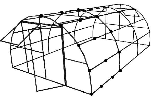 Монтаж поликарбоната на каркас